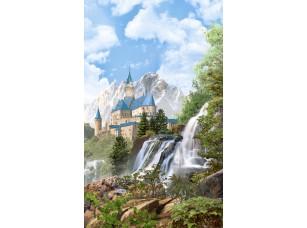 Фотообои «Водопад на фоне замка»