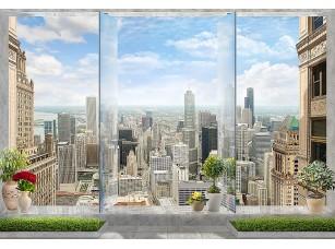Фотообои «Вид из окна на современный город»