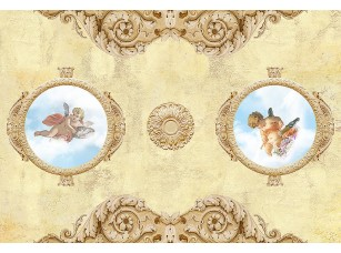 Фотообои «Два ангелочка в плафонах»