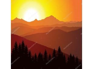 Фотообои «Вектор панорама гор»