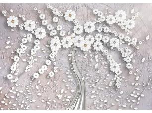 Фотообои «Абстрактное дерево из цветов»