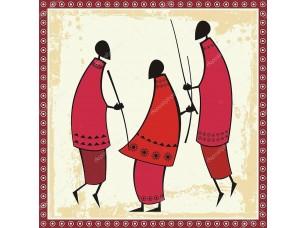Фотообои «Vector African Masai Warriors Illustrations»