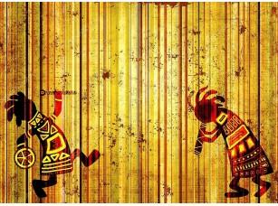 Фотообои «Африканские танцующие музыканты»