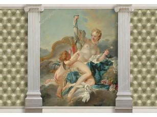 Фотообои «Картина Венера и Купидон Буше в обрамлении колонн»