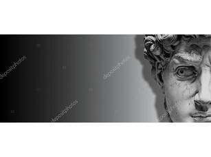 Фотообои «David is a masterpiece of Renaissance sculpture created in 1501-1504 by the Italian artist Michelangelo»