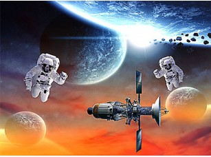 Фотообои «Два космонавта»