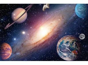 Фотообои «Галактика и планета»