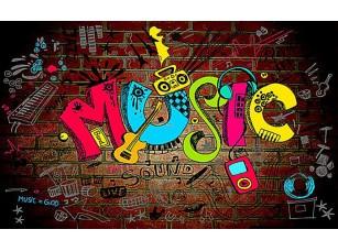 Фотообои «Граффити music»
