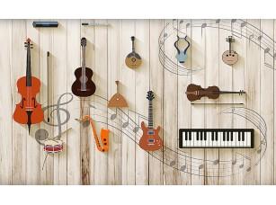 Фотообои «Инструменты на досках»
