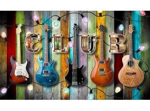 Фотообои «Гитарная стена»