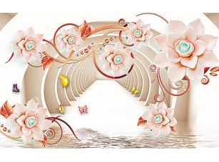 Фотообои «Арочный коридор с цветами»