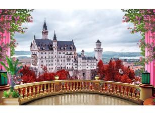Фотообои «Вид на замок с террасы»