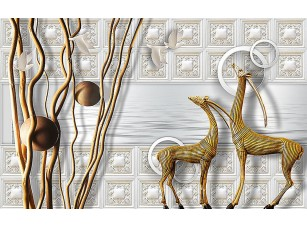 Фотообои «Абстракция с антилопами»