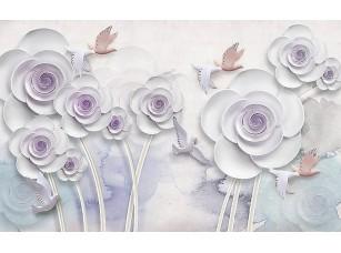 Фотообои «Абстрактные цветы с круглыми лепестками»