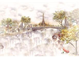 Фотообои «Париж в акварели»
