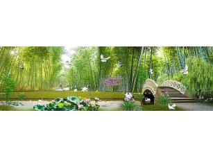 Фотообои «Ажурный мостик в бамбуковом лесу»