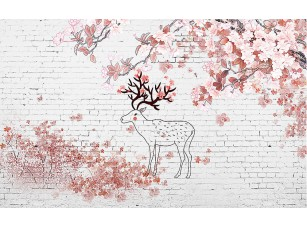 Фотообои «Абрис оленя на стене»