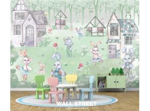Фотопанно Rabbit room 21307