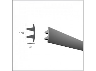 Карниз под подсветку Tesori KF503 для скрытого освещения