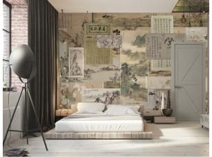 Обои Chinoiserie Paper pattern интерьер 17065