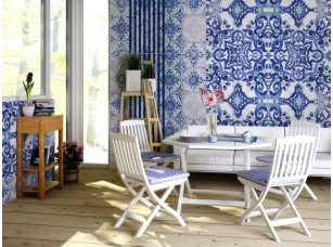 Обои Dolce Blue tiles интерьер 17844
