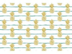 Обои Dolce Mint stripes Pineapples 17847