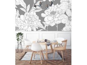 Обои Floreale White flowers 3 интерьер 17309