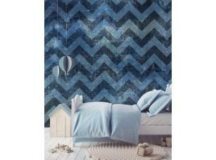 Обои Geometry Синяя стена интерьер 17696