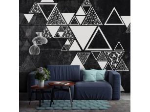 Обои Geometry Треугольники на стене #2 интерьер 17698