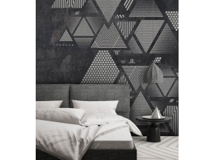 Обои Geometry Треугольники на стене #3 интерьер 17699