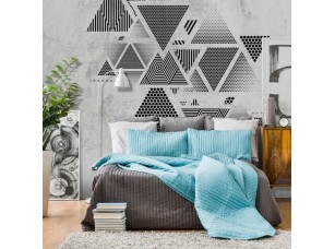 Обои Geometry Треугольники на стене интерьер 17700