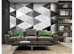 Обои Grayscale Marble geometry интерьер 16996