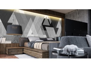 Обои Grayscale Треугольники интерьер 17007
