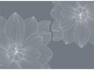 Обои SweetHome Flower line (blue) 18833