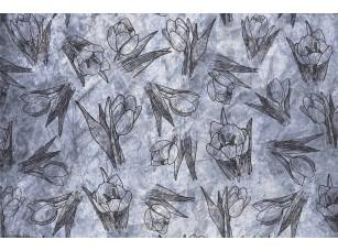 Обои SweetHome Textured tulips (light) 18849