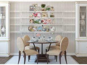 Обои Tea time Shelves интерьер 17229