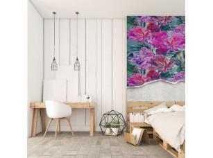 Обои Tropical яркие цветы отрыв интерьер 17464
