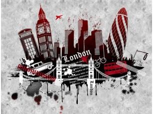 Обои Urban London (red version) 18445