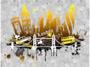 Обои Urban London (yellow version) 18483