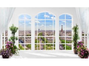 Обои Urban Панорамное арочное окно Paris 18499