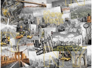 Обои Urban Панно с желтым акцентом #2 18511