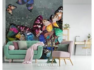 Обои Wonderland Бабочки на стене 19528