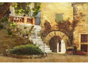 Фреска Европейский дворик с аркой, арт. 4542