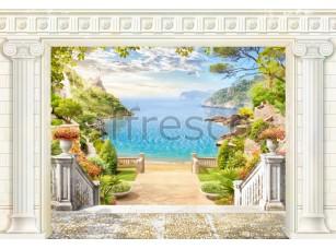Фреска Вид на бухту с террасы, арт. 6473