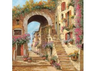 Фреска Лестница в цветах, арт. 6785