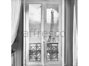 Фреска Окно с видом на Эйфелеву башню, арт. ID11282