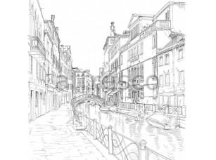 Фреска Графика Венеция, арт. ID10252
