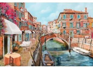 Фреска Венецианское кафе на набережной, арт. 6748