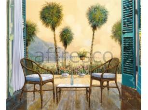 Фреска Вид из окна на пальмы, арт. 6707