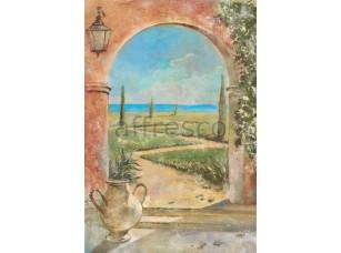 Фреска Арка с фонарем, арт. 6222